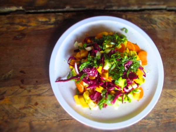 Recipes From the Road: Tropical Rainbow Slaw