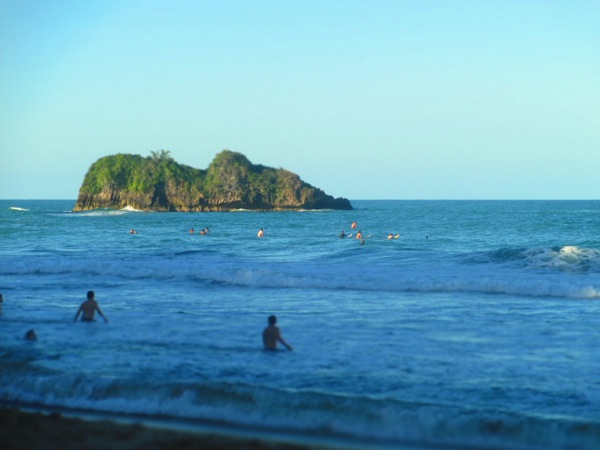 Surfing in Playa Cocles