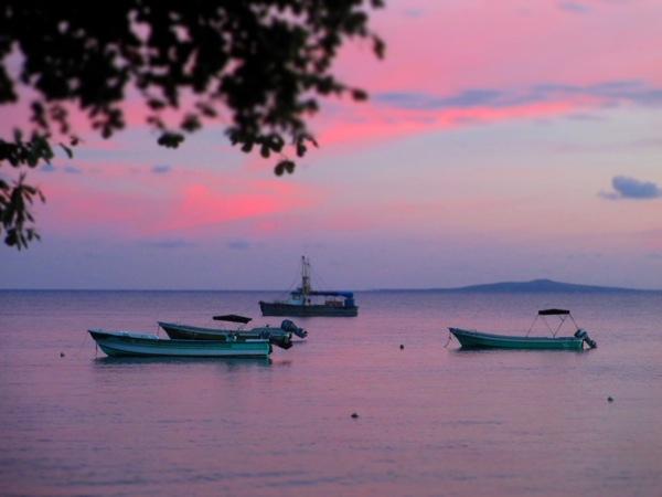 Little Corn Island Sunset Harbor