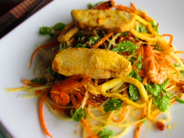 green papaya salad seafood