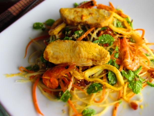 green papaya salad seafood
